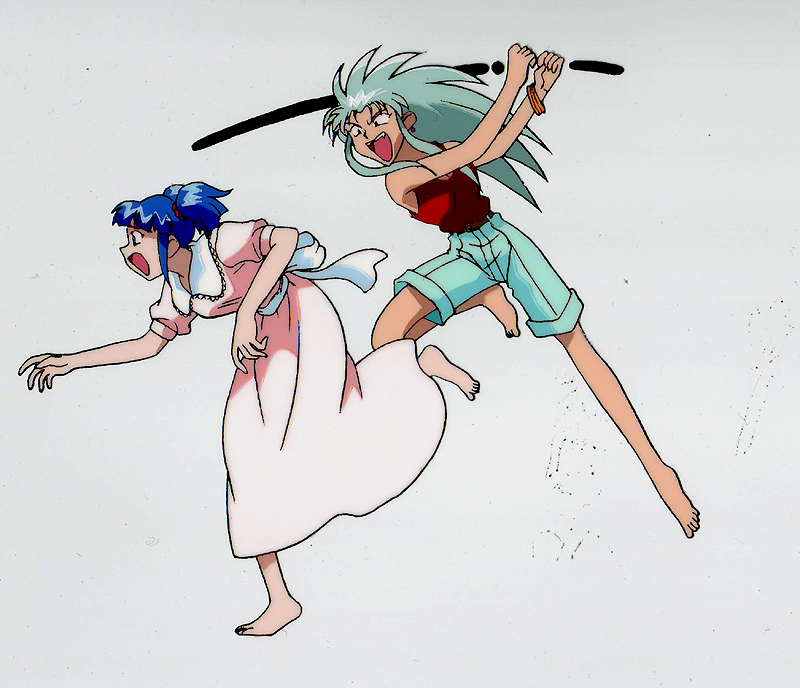 Ryoko is not pleased with Mayuka's presence - Tenchi Muyo-Daughter of Darkness